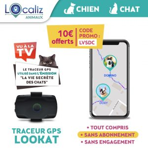 Traceur GPS LOOKAT chat chien TF1 promo