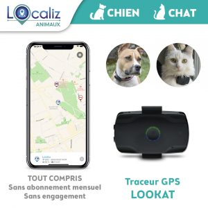 Traceur GPS chien chat LOOKAT Localiz