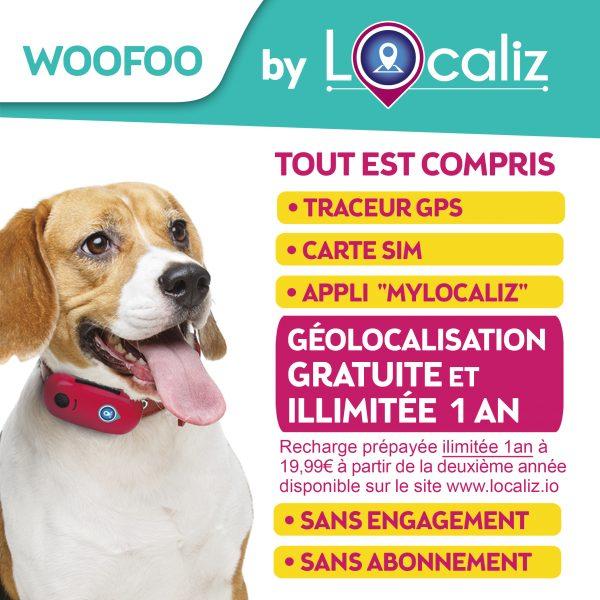 Localiz Woofoo traceur GPS chien
