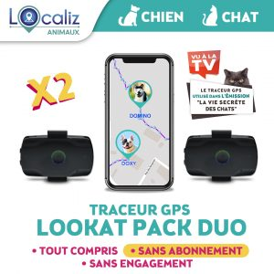Traceur GPS lookat DUO chat chien