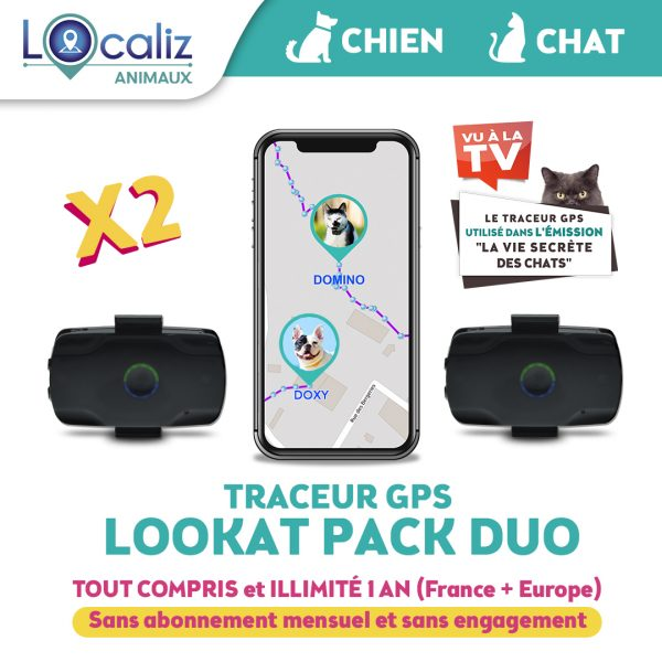 Traceur-GPS-lookat-DUO chien chat
