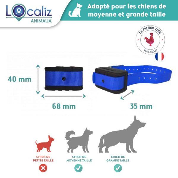 Traceur GPS chien Dogamx Localiz taille